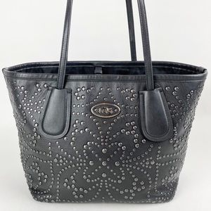 Coach Studded Leather Taxi Tote 33582 Tea Rose